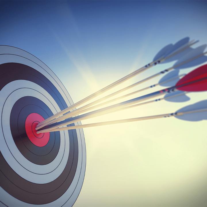 Arrow in a target