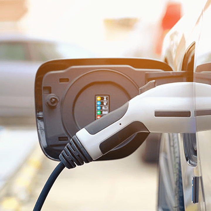 Electric Vehicle Plugged