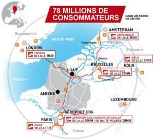 Carte Hauts-de-France au coeur de l'UE